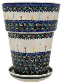 "9.25""tall Flower Pot (UN)"