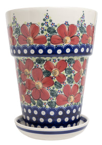 "9.25""tall Flower Pot (AC)"