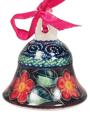 Medium Bell Ornament (Midnight Flowers)
