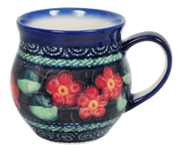Medium Belly Mug (Midnight Flowers)