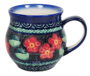 10 oz. Belly Mug (Midnight Flowers)
