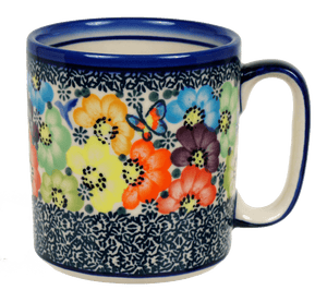 13.5 oz Straight Mug (Rainbow Bouquet)