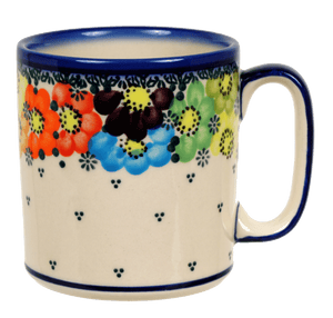 13.5 oz Straight Mug (Rainbow Wreath)