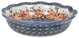Wavy Edge Bowl (Butterfly Fields - B)