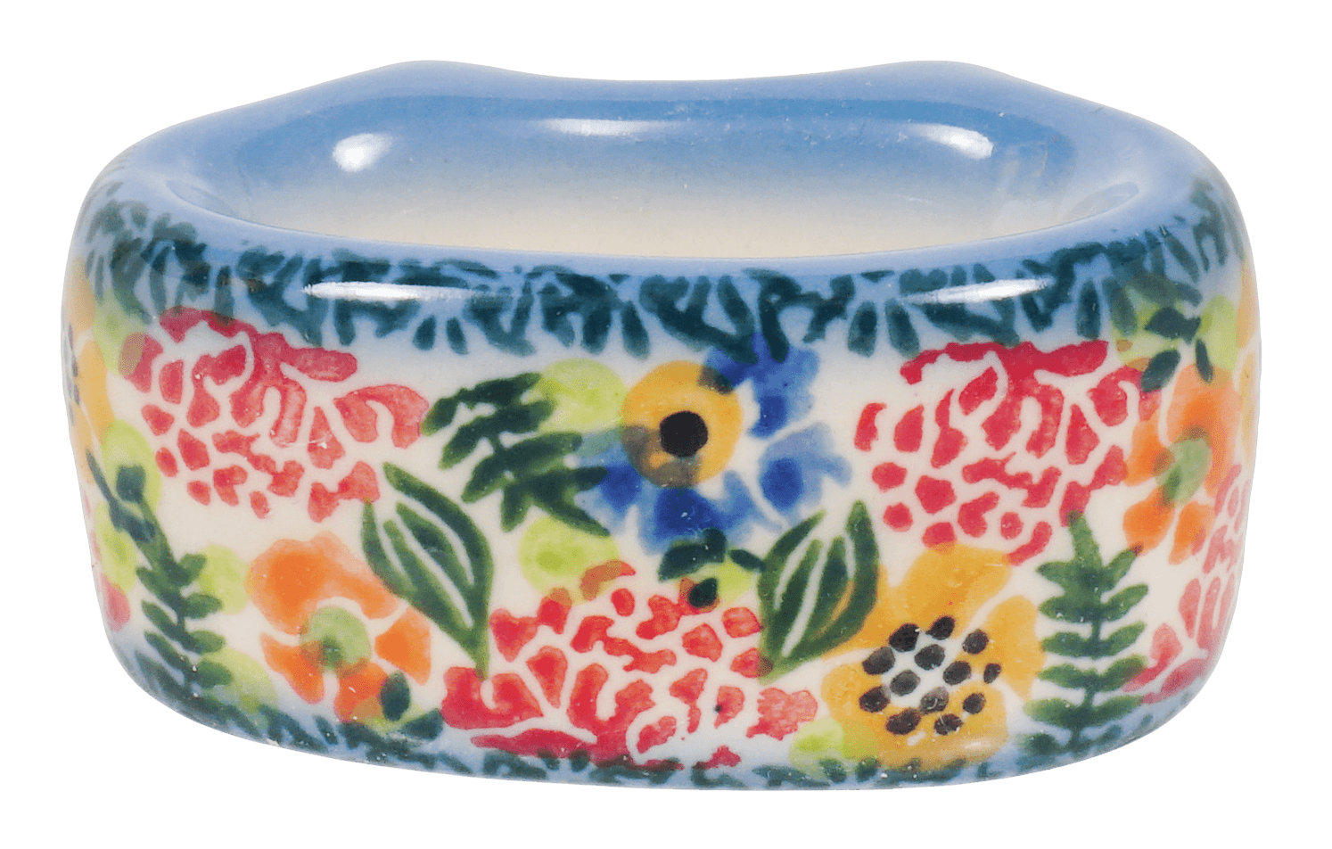 Polish Pottery Napkin Ring Ae4 The Polish Pottery Outlet