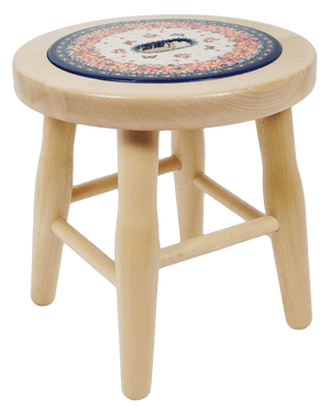 "12"" Light Wood Stool (Butterfly Fields)"