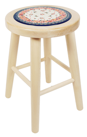 "18"" Light Wood Stool (Butterfly Fields)"