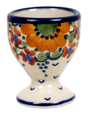 The Polish Pottery Egg Cup (Autumn Harvest)