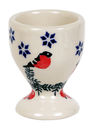The Polish Pottery Egg Cup (Red Bird)