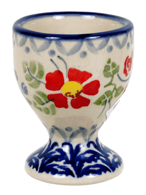 The Polish Pottery Egg Cup (Floral Grid)