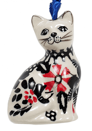 Cat Ornament (Duet in Black & Red)