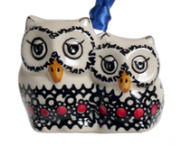 Owl Duo Ornament (Duet in Black & Red)