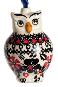 Owl Ornament (Duet in Black & Red)
