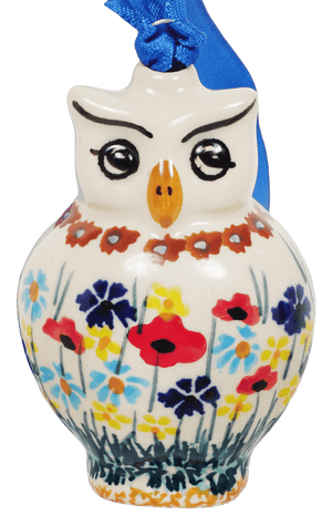 Owl Ornament (Sunlit Wildflowers)