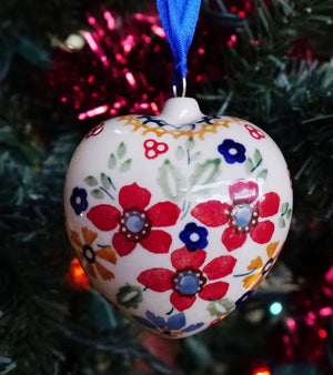 Puffy Heart Ornament (Ruby Bouquet)