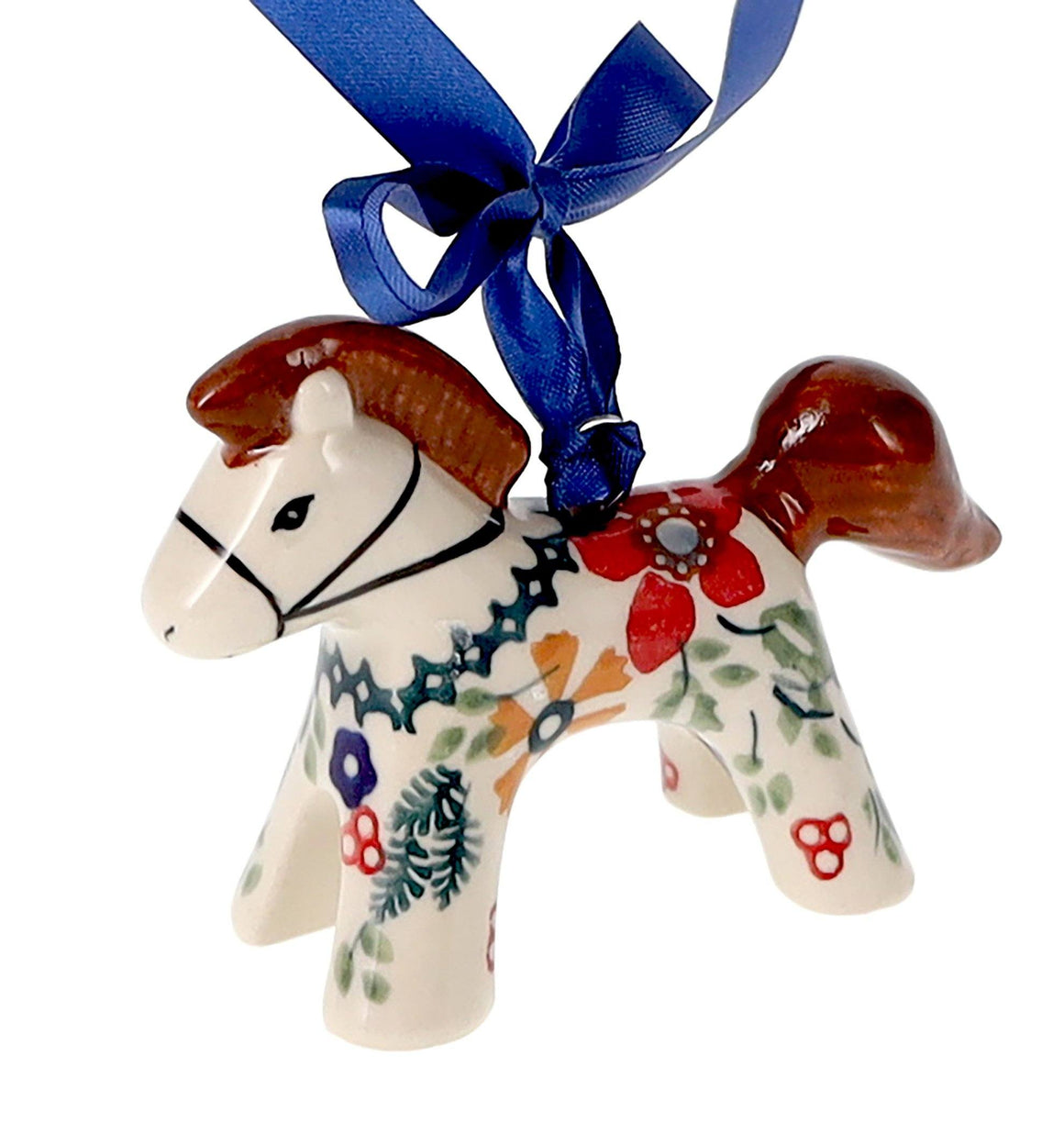 Horse Ornament (Ruby Bouquet)