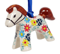 Horse Ornament (Floral Swirl)