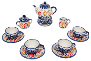 Miniature Set With Teapot (Flower Power)