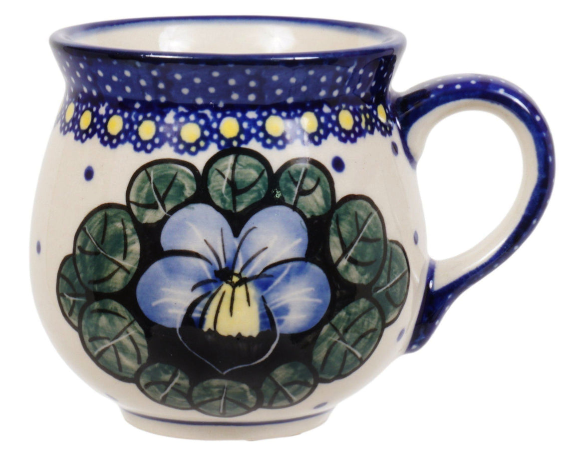 Small Belly Mug (Pansies)