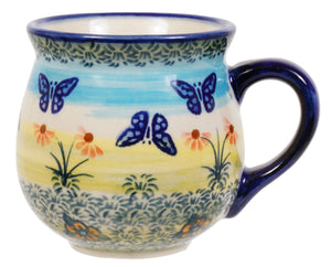 Small Belly Mug (Butterflies in Flight)