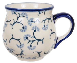 Small Belly Mug (Dusty Blue Blossoms)