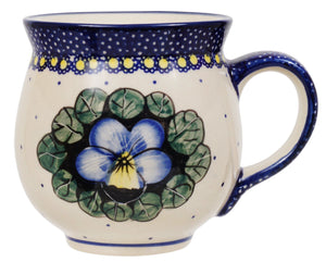 Large Belly Mug (Pansies)