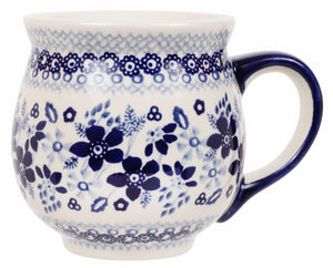 Large Belly Mug (Duet in Blue)