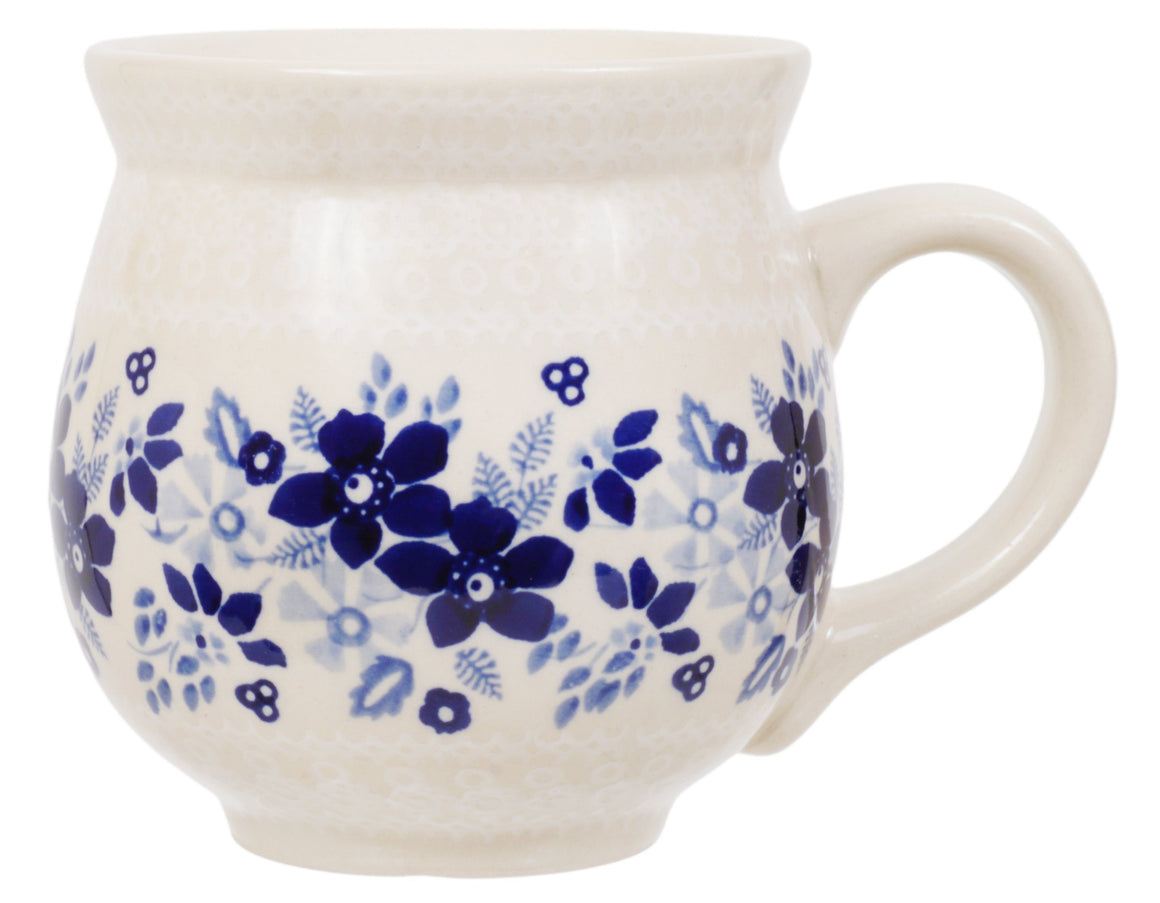 Large Belly Mug (Duet Blue Wreath)