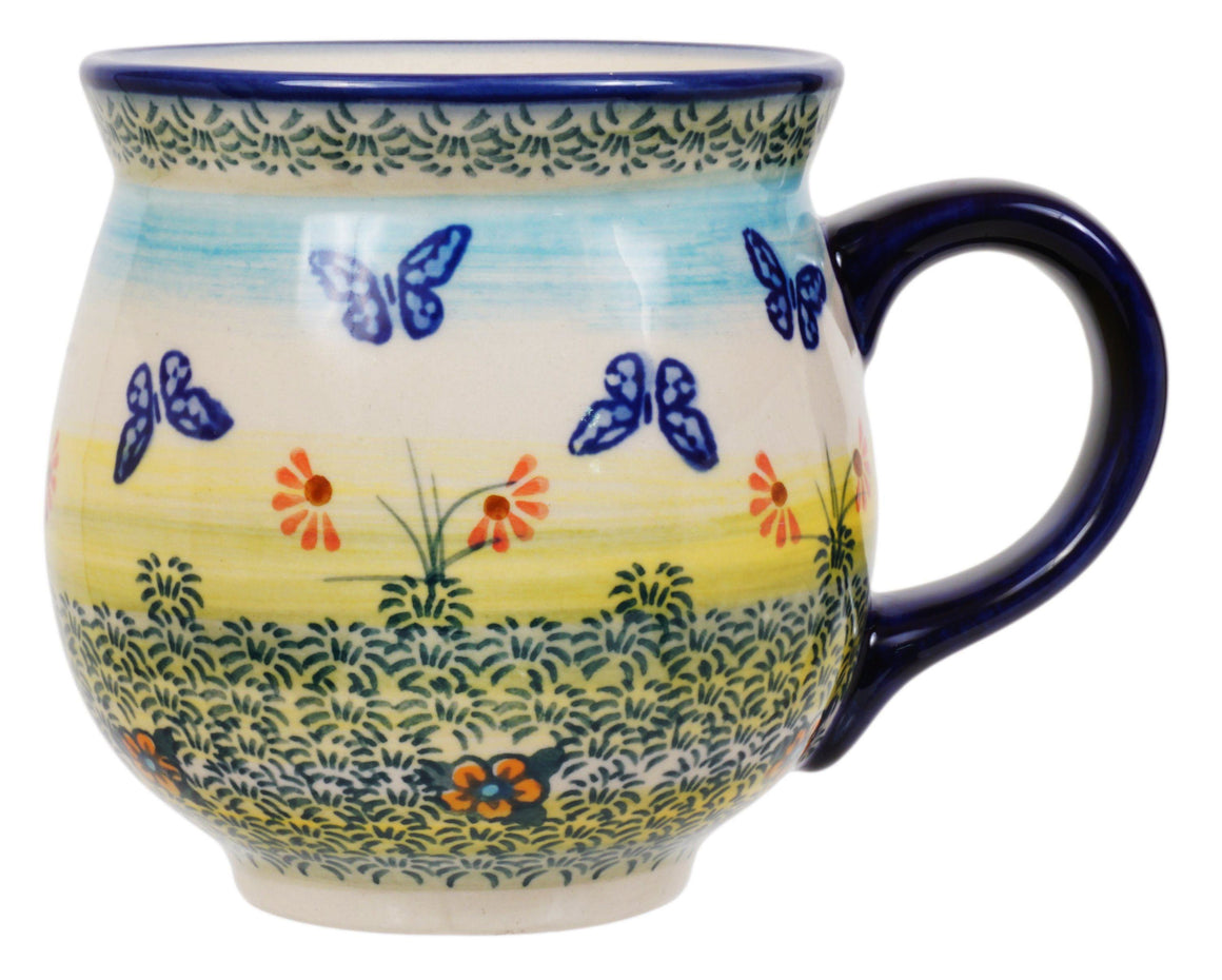 Large Belly Mug (Butterflies in Flight)