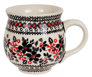 Large Belly Mug (Duet in Black & Red)