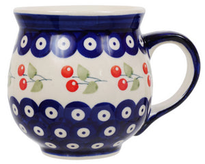 Large Belly Mug (Cherry Dot)