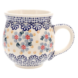 Large Belly Mug (Periwinkles & Pinwheels)