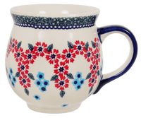 Large Belly Mug (Floral Symmetry)