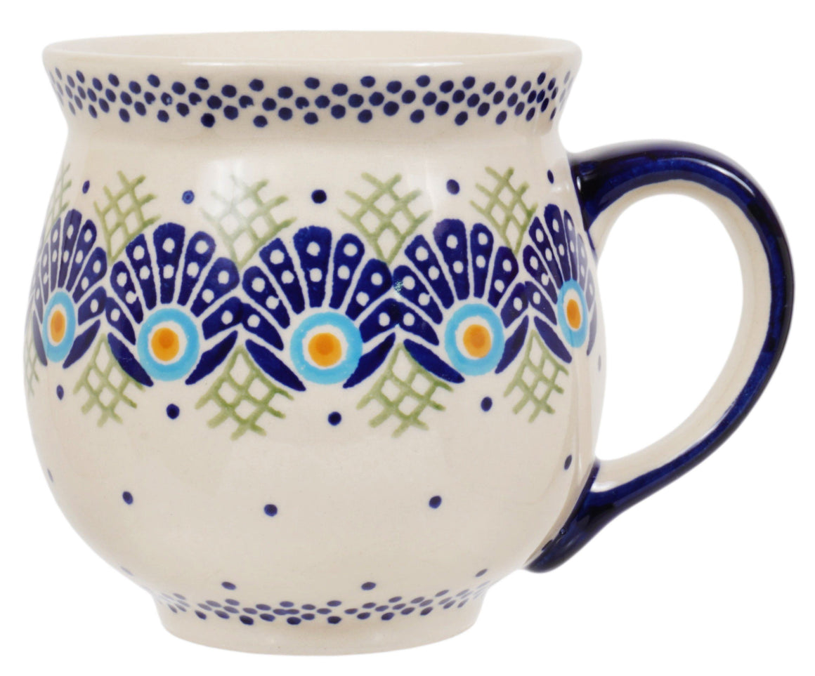 Large Belly Mug (Peacock's Pride)
