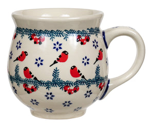 Large Belly Mug (Red Bird)