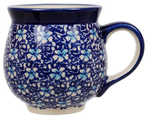 Large Belly Mug (Blue on Blue)