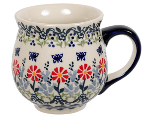 Large Belly Mug (Butterfly Blossoms)