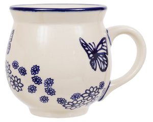 Large Belly Mug (Butterfly Garden)