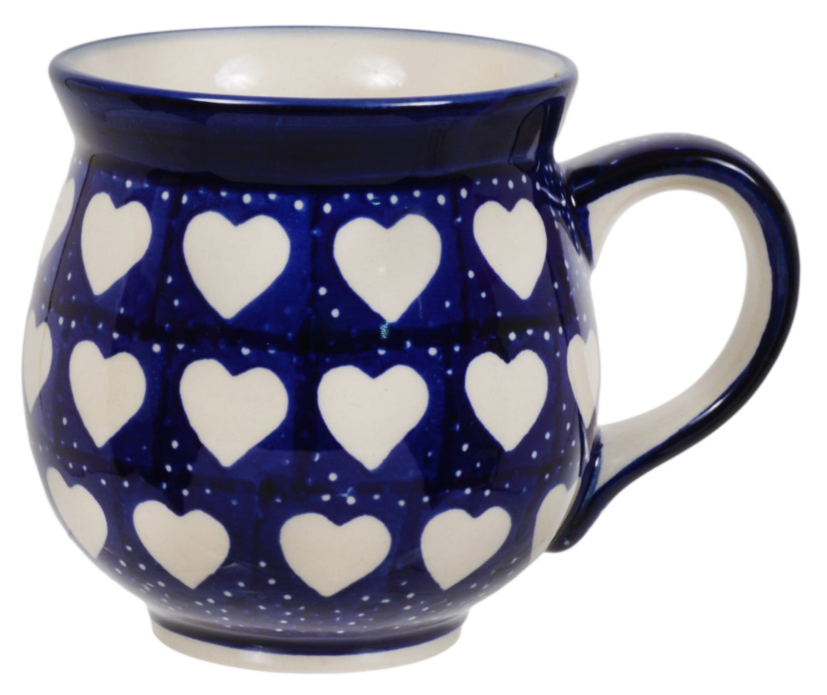 Large Belly Mug (Sea of Hearts)