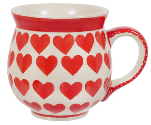 Large Belly Mug (Whole Hearted Red)