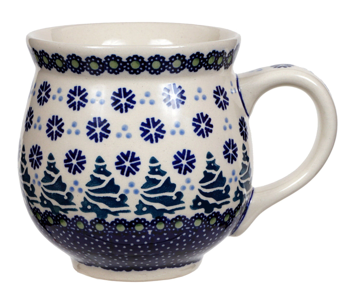 Large Belly Mug (Snowy Pines)