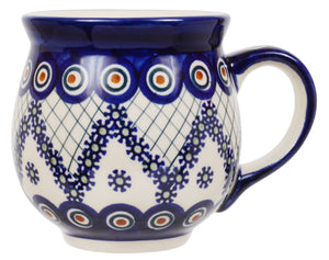 Large Belly Mug (Fancy Peacock)