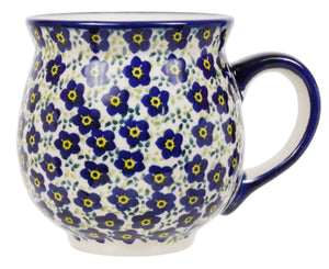 Large Belly Mug (Floral Revival Blue)
