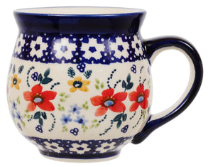 Large Belly Mug (Bold Red Blossoms)