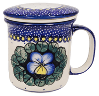 Tea Infuser Mug Set (Pansies)