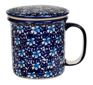 Tea Infuser Mug Set (Blue on Blue)