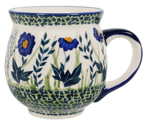 Large Belly Mug (Bouncing Blue Blossoms)