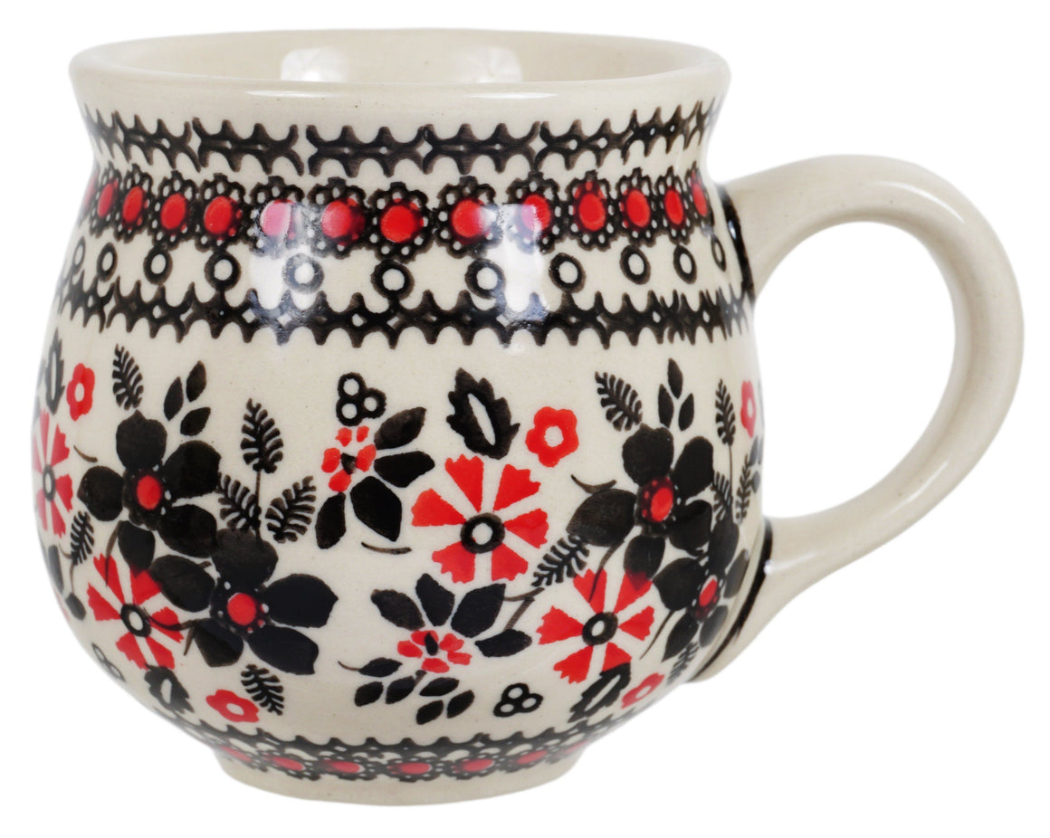 The Medium Belly Mug (Duet in Black & Red)