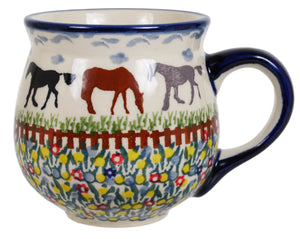The Medium Belly Mug (Wild Horses)