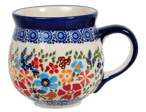 The Medium Belly Mug (Festive Flowers)